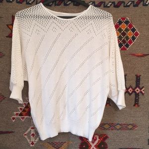 Vintage knit top with batwing sleeves